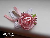 vintage svadobné pierko v ružovom II.