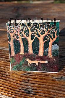 Papiernictvo - Notes střední s liškou pod stromy - 6652843_