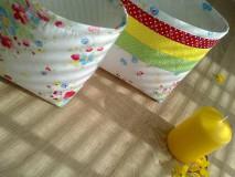 Košíky - Textilný košík..pestrý - 6652507_