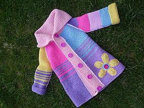 Detské oblečenie - Detský farebný kabát - 6650487_