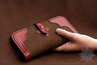 Peňaženky - Dámska kožená peňaženka červená II - 6652910_
