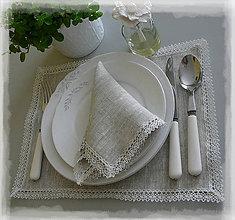 Úžitkový textil - Lněné prostírání 30x40cm - 6652801_