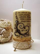 Dekoračná sviečka pre mladomanželov