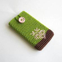 Na mobil - Obal na mobil s folkovým srdiečkom - 6653402_