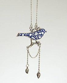 Náhrdelníky - Folk vtáčik (náhrdelník) - 6653849_