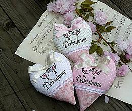 Darčeky pre svadobčanov - srdiečka