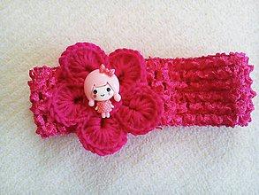 Ozdoby do vlasov - čelenka- ružový sen - 6654215_