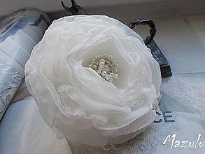 Ozdoby do vlasov - svadobná spona do účesu - 6655495_