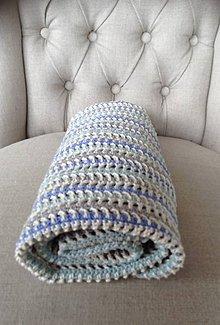 Úžitkový textil - Deka ladená do modra - 6653621_