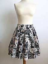 Sukne - letná sukňa Paris - 6656064_