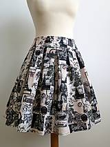 Sukne - letná sukňa Paris - 6656065_