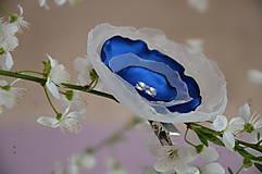 Sponka modro - biela
