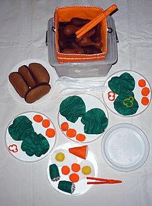 Hračky - Jedlo z filcu - piknikový box I. - 6653604_