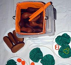 Hračky - Jedlo z filcu - piknikový box I. - 6653605_