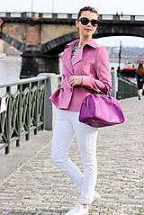 Kabáty - Krátky jarný kabát - ružový - 6653594_
