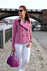 Kabáty - Krátky jarný kabát - ružový - 6653595_