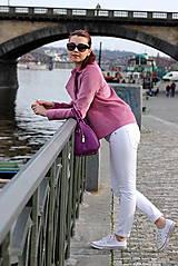 Kabáty - Krátky jarný kabát - ružový - 6653596_