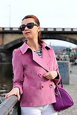 Kabáty - Krátky jarný kabát - ružový - 6653597_