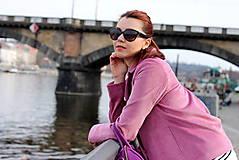 Kabáty - Krátky jarný kabát - ružový - 6653598_