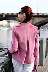 Kabáty - Krátky jarný kabát - ružový - 6653599_