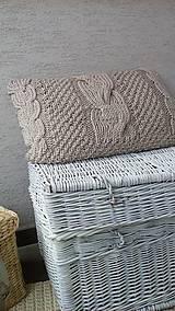 Úžitkový textil - Veľký pletený vankúš - 6655919_
