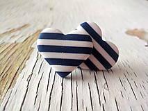srdce námorníčky-väčšie napichovačky (tmavo modrá)