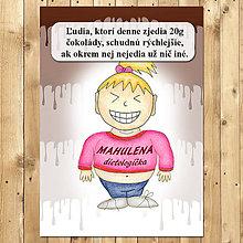 """Papiernictvo - Zápisník jedál s vtipným citátom ,,Čokoláda na chudnutie"""" (1) - 6654937_"""
