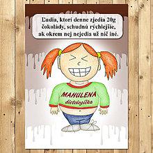 """Papiernictvo - Zápisník jedál s vtipným citátom ,,Čokoláda na chudnutie"""" (2) - 6654939_"""