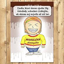 """Papiernictvo - Zápisník jedál s vtipným citátom ,,Čokoláda na chudnutie"""" (3) - 6654940_"""