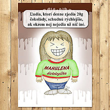 """Papiernictvo - Zápisník jedál s vtipným citátom ,,Čokoláda na chudnutie"""" (4) - 6654941_"""