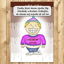 """Papiernictvo - Zápisník jedál s vtipným citátom ,,Čokoláda na chudnutie"""" (9) - 6654949_"""
