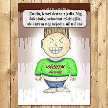 """Papiernictvo - Zápisník jedál s vtipným citátom ,,Čokoláda na chudnutie"""" (12) - 6654955_"""