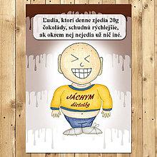 """Papiernictvo - Zápisník jedál s vtipným citátom ,,Čokoláda na chudnutie"""" (13) - 6654957_"""