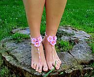 Iné šperky - Nožky v kvetoch - 6653579_