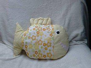 Úžitkový textil - Vankúš ryba žltá - 6656378_