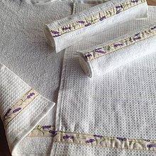 Úžitkový textil - Uteráčiky obojstranné -Levanduľové- - 6657518_