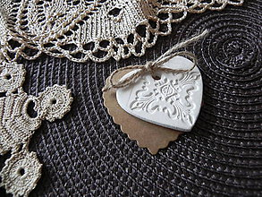 Darčeky pre svadobčanov - Svadobné srdiečko - 6656859_