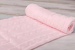 """Textil - Ružová Deka pre bábätko, """"vrkoč"""", OEKO-TEX® - 6656825_"""