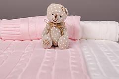 """Textil - Ružová Deka pre bábätko, """"vrkoč"""", OEKO-TEX® - 6656826_"""