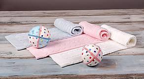 """Textil - Ružová Deka pre bábätko, """"vrkoč"""", OEKO-TEX® - 6656830_"""
