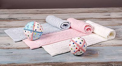 Textil - Ružová Deka pre bábätko,