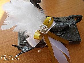 Pierka - svadobné pierko v zlatom III. - 6657365_