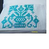 Úžitkový textil - Babka vynkúšik tyrkysové vrecúško - 6657670_