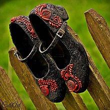 Obuv - Folkové - unikátne dámske topánky - 6657084_