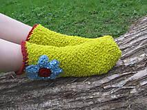 Obuv - Huňaté ponožky - 6657389_
