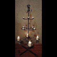 Svietidlá a sviečky - železný vianočný stromček - 6658594_