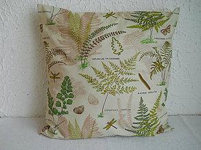 Úžitkový textil - Návlek na vankúš - Papradie zelené - 6661346_