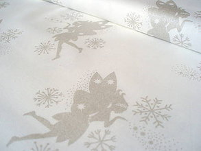 Textil - Fairies on Snow Metallic - 6659818_