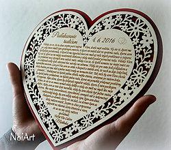 Darčeky pre svadobčanov - Srdce Poďakovanie Rodičom 14 - 6661818_