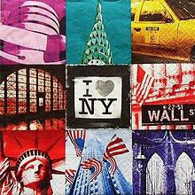 Papier - S692 - Servítky - New York, Wall Street, socha slobody - 6661282_